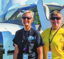 Women take to the air in races